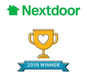Nextdoor trophy for Trish Nash Team