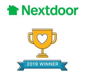 Nextdoor trophy for Trish Nash Team